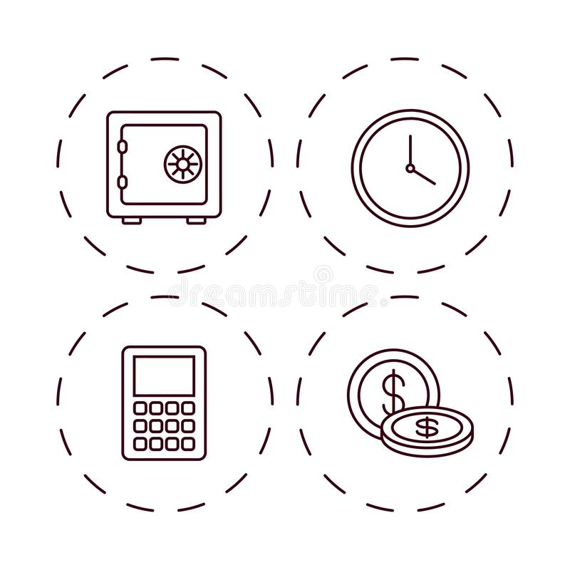 bankrörelsebegreppsdesign royaltyfri illustrationer
