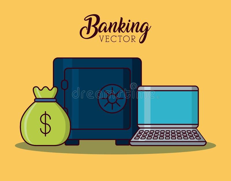 bankrörelsebegreppsdesign stock illustrationer