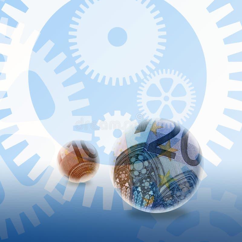 bankrörelseeurosystem stock illustrationer