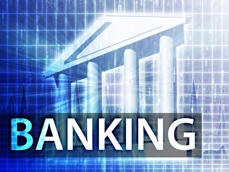 bankrörelseillustration royaltyfri illustrationer