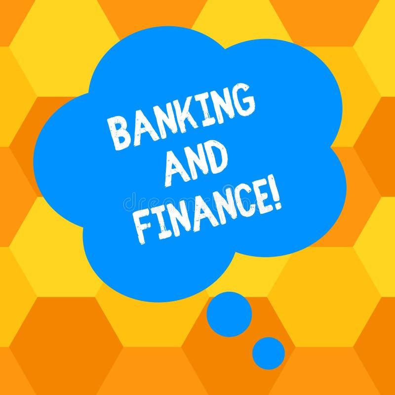 Bankrörelsen och finans för handskrifttexthandstil Begrepp som betyder institutioner som ger variation av finansiell rådgivning vektor illustrationer
