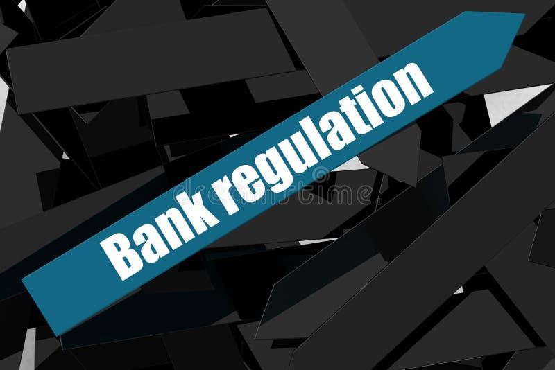 Bankregelgeving woord op de blauwe pijl stock illustratie
