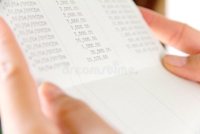 Bankrekeningsboek royalty-vrije stock fotografie