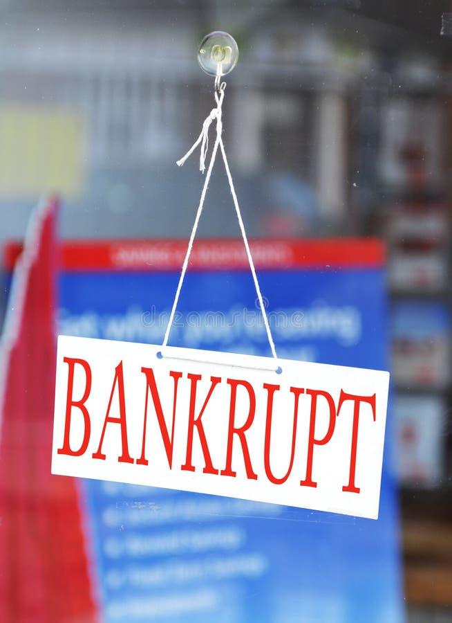 Bankrott lizenzfreie stockbilder