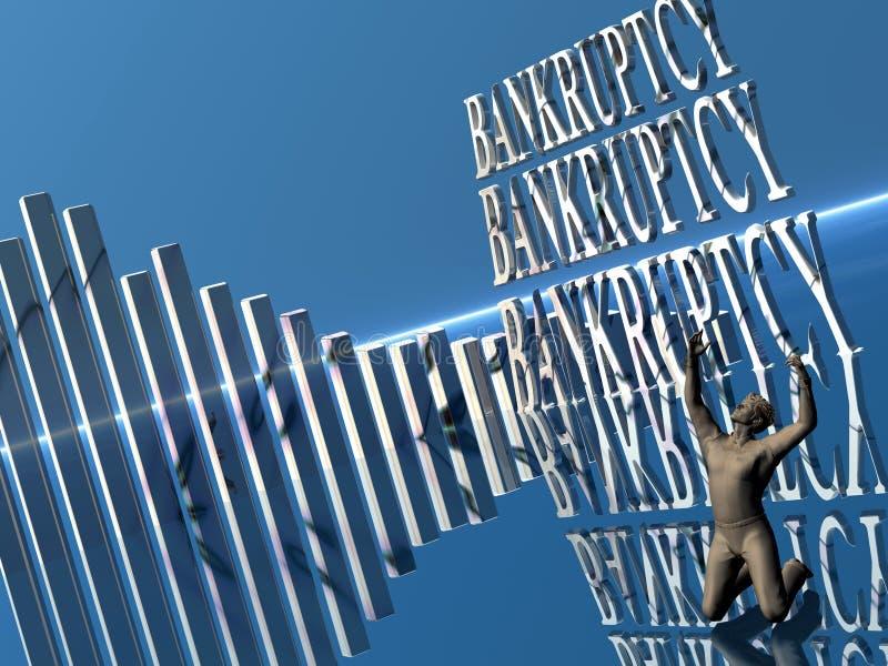 Bankrott, ausfallen Geschäft. stock abbildung