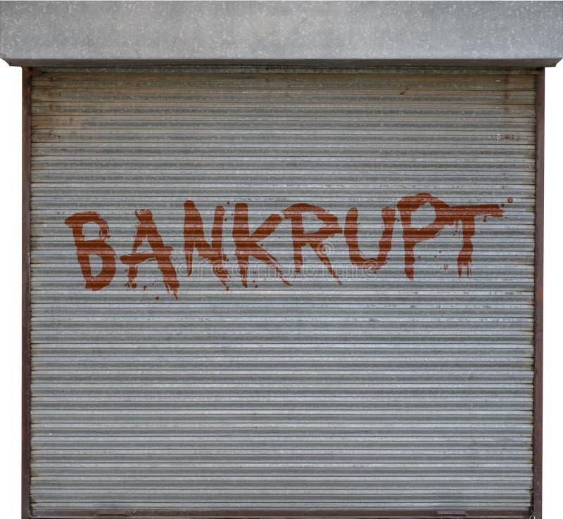 Bankrottes Geschäft lizenzfreies stockfoto