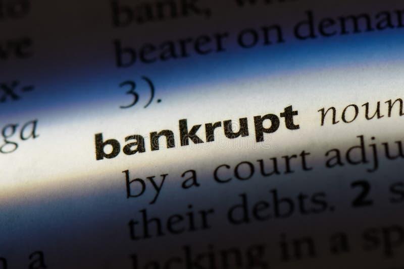 bankrupt royalty-vrije stock afbeelding