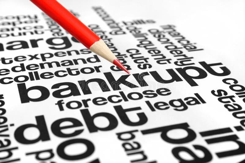 Bankrupt стоковое изображение rf