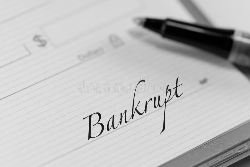 Bankrupt fotografia stock