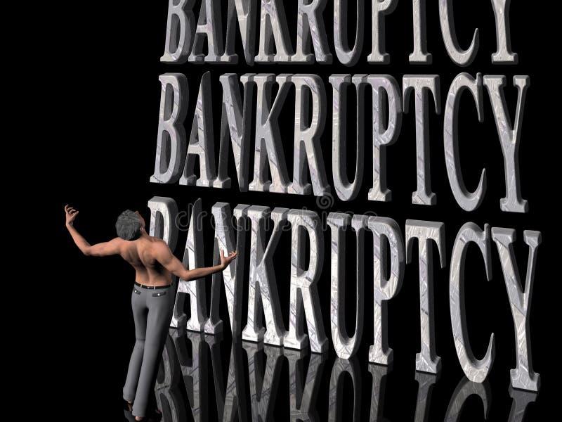 Bankrupt, affaires de manqu. illustration libre de droits