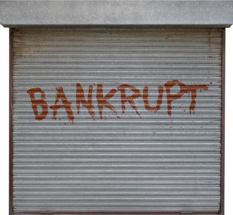 Bankrupt business royalty free stock photo