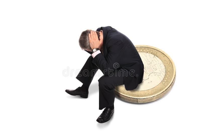 Bankrupt do homem de negócios fotografia de stock