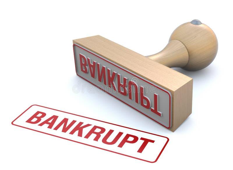 Bankrupt rubber stamp stock illustration