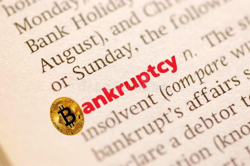 Bankruptcy bitcoin royalty free stock photos