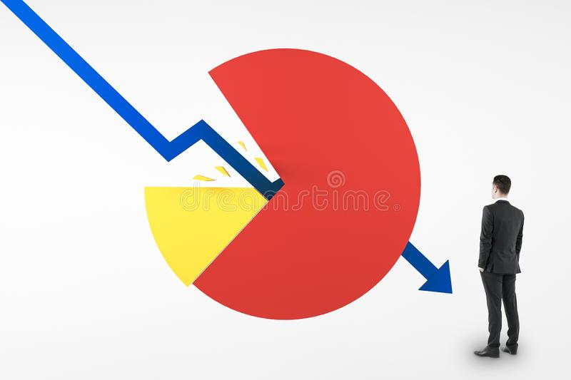 Bankruptcy and recession concept royalty free stock photo
