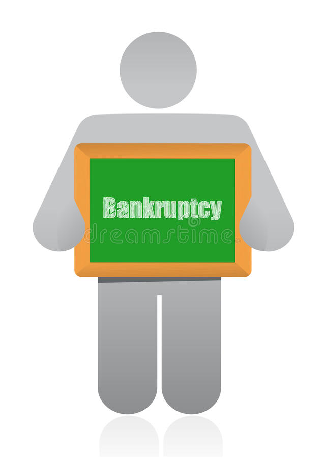 Download Bankruptcy sign and icon stock illustration. Illustration of copy - 28014575