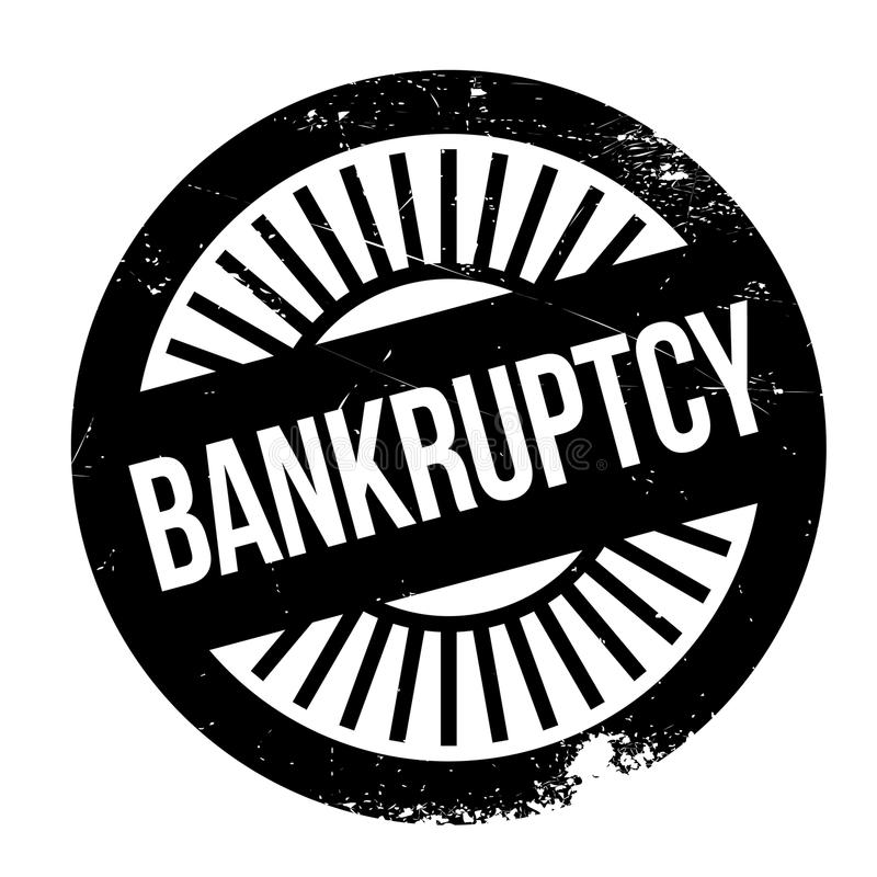 Bankruptcy stamp rubber grunge. Bankruptcy stamp. Grunge design with dust scratches. Effects can be easily removed for a clean, crisp look. Color is easily stock illustration