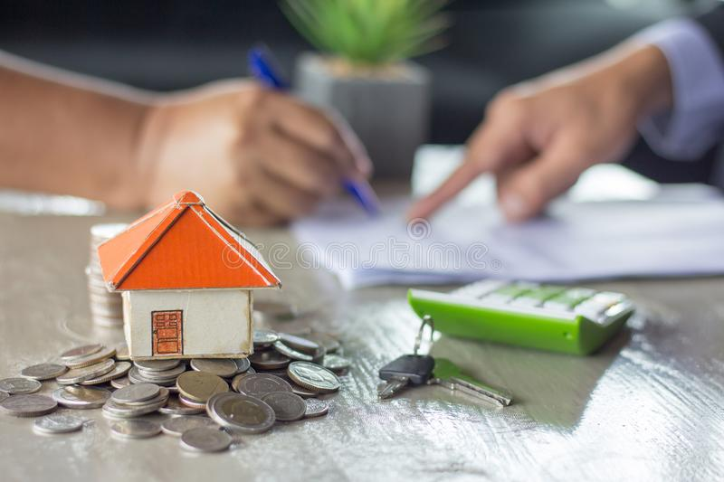Banks approve loans to buy homes. Real Estate. royalty free stock image