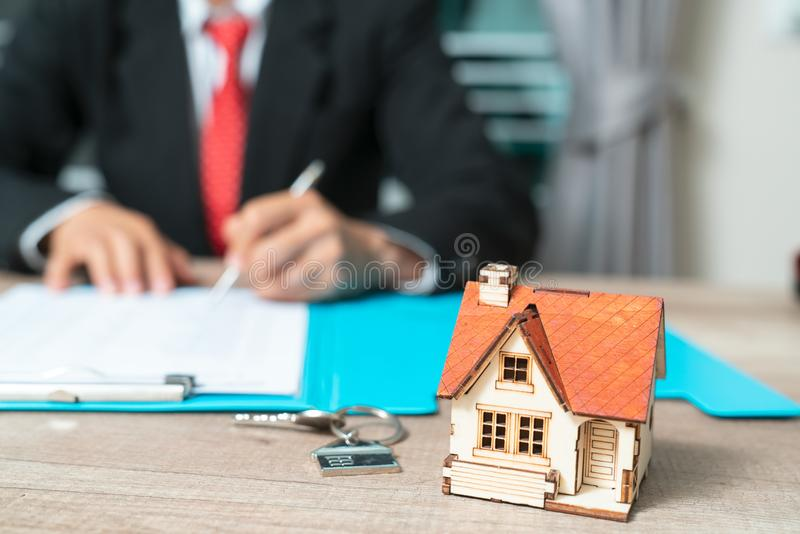 Banks approve loans to buy homes. Real Estate concept.  royalty free stock photos