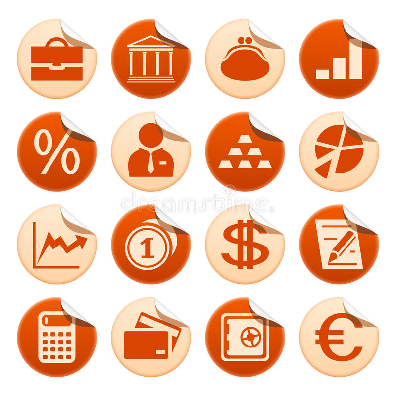 Download Banks & finance stickers stock vector. Image of calculator - 22782595