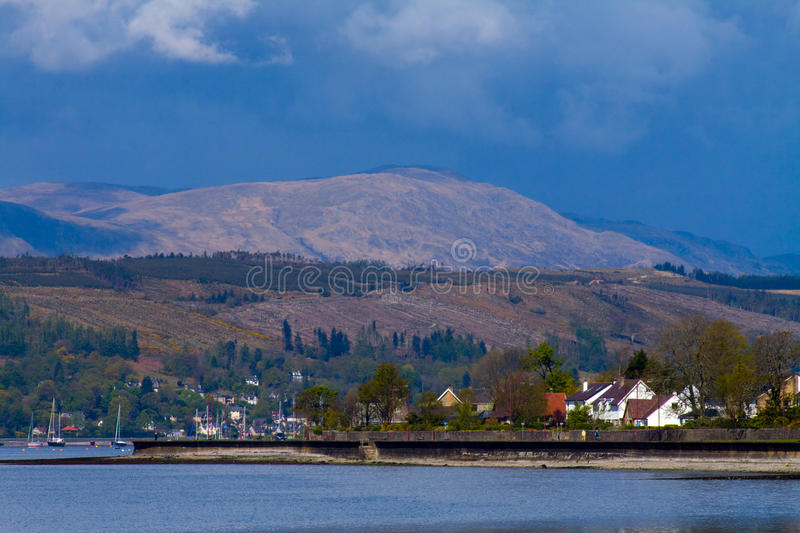 Download Banks Of Gare Loch stock image. Image of scenery, landscape - 27339795
