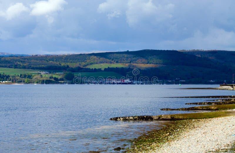 Download Banks Of Gare Loch stock image. Image of loch, peak, rural - 27373681