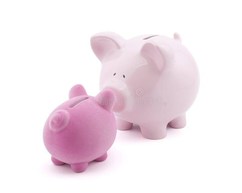 banks piggy två royaltyfria bilder