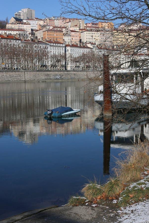 Download Banks Of Rhone River In Lyon Stock Photo - Image: 12794146