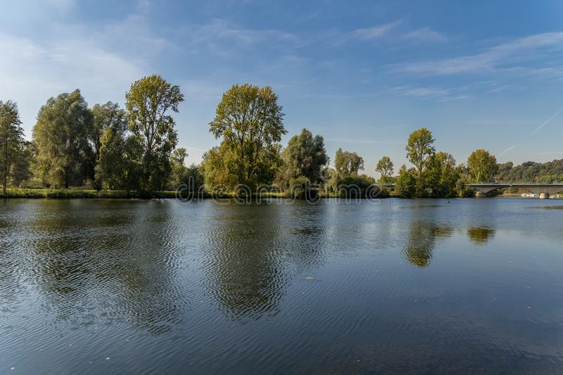 The banks of the River Ruhr near Muelheim, Germany. A walk on the banks of the River Ruhr near Muelheim, Ruhr Area, North Rhine-Westphalia, Germany stock images