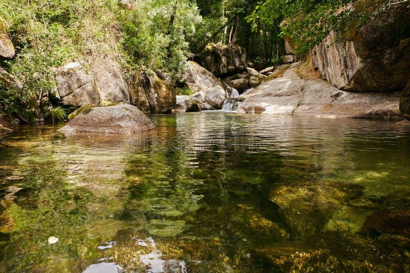 Vizela river Pontido royalty free stock photography