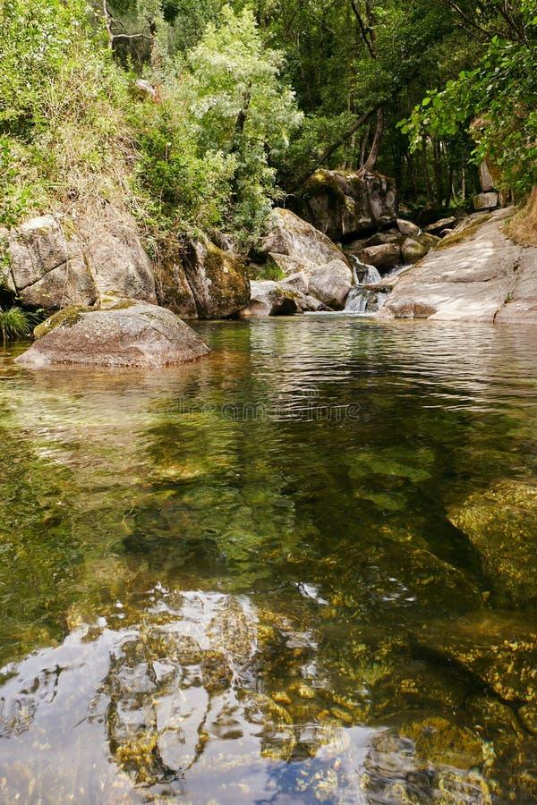 Vizela river Pontido stock photography