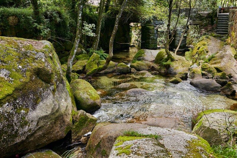 Vizela river Pontido stock image