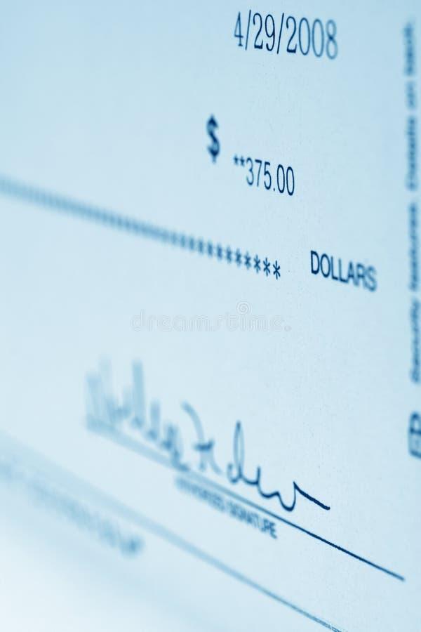 Bankscheck stockbilder