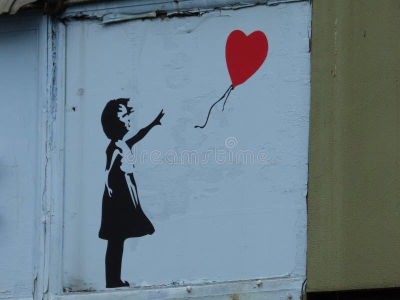 Banksy royalty-vrije stock afbeeldingen