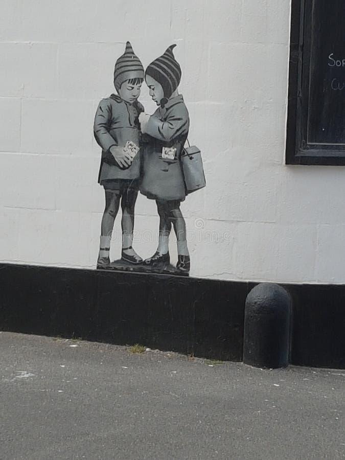 Banksy photographie stock
