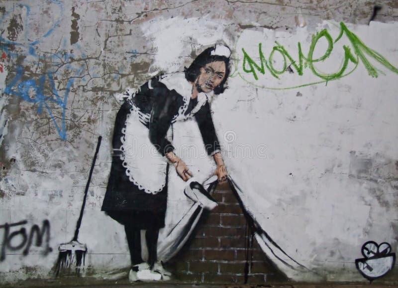 Banksy, Chalk Farm Rd., London stock photo