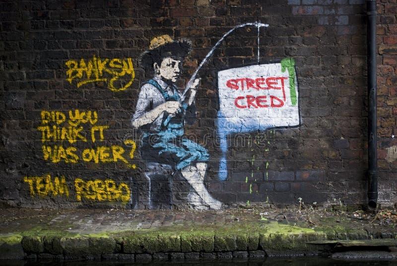 Banksy contra Robbo foto de archivo libre de regalías