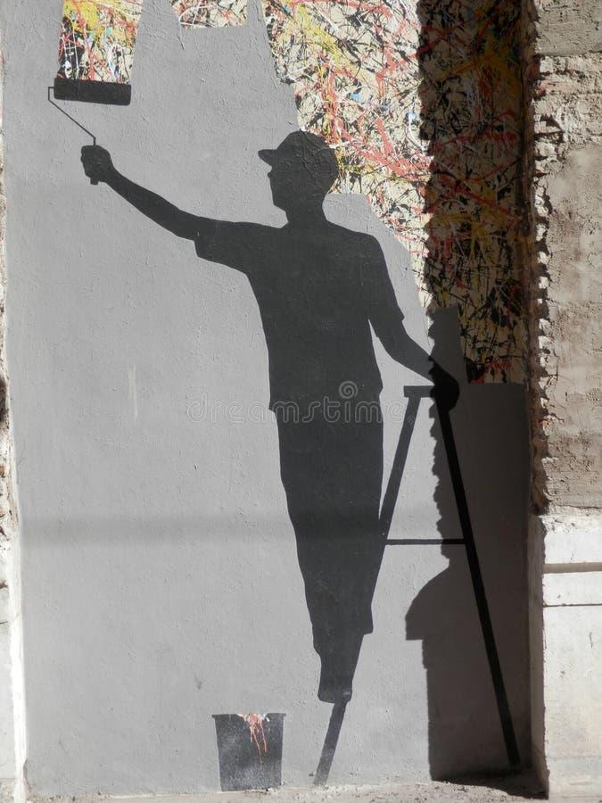 Banksy mögen Kunst lizenzfreies stockbild