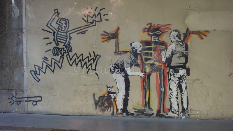 Banksy a trouvé dans des rues de Londres photographie stock libre de droits