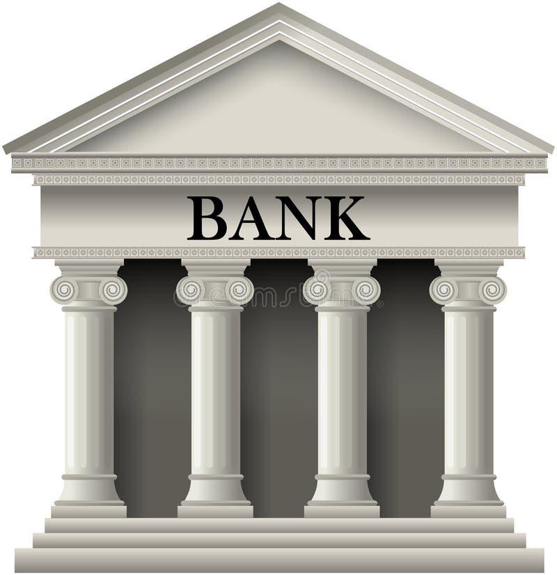 Banksymbol vektor illustrationer