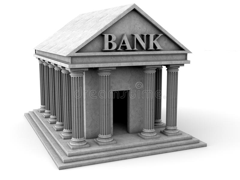 Banksymbol stock illustrationer
