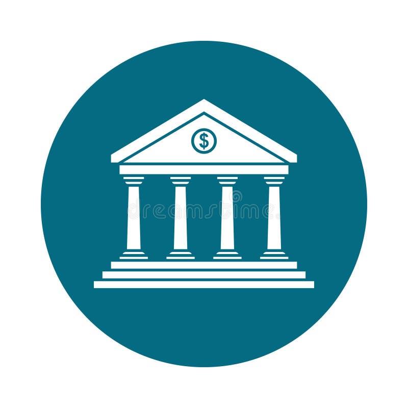 Banksymbol i cirkeln royaltyfri illustrationer