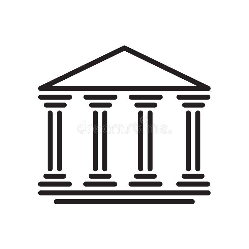 Banksymbol som isoleras på vit bakgrund vektor illustrationer