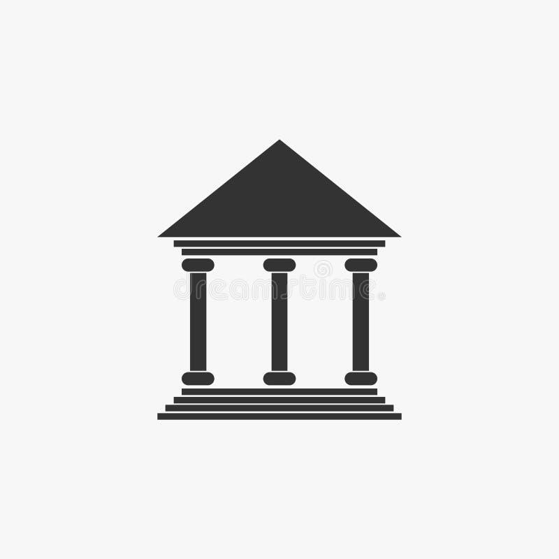 Banksymbol som packar ihop vektorn, finans stock illustrationer