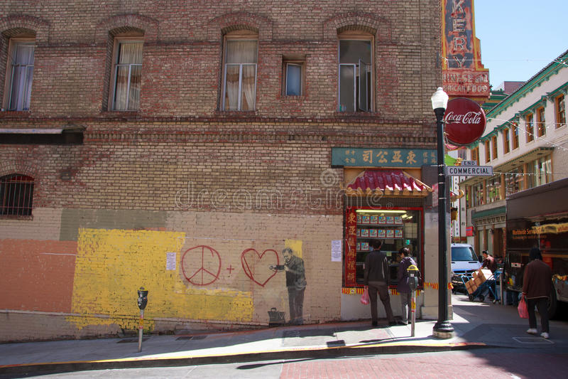 Banksys Graffiti stockfotografie