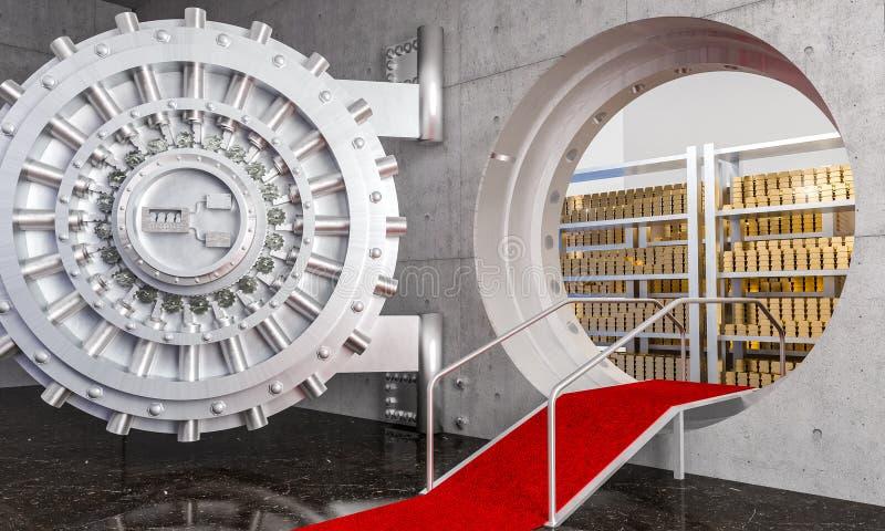 Banktresor 3d stock abbildung