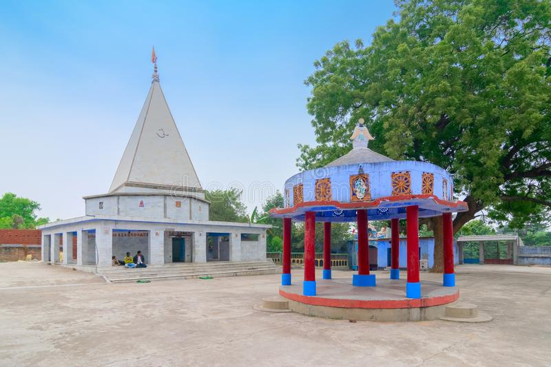 Biharinath temple at Bankura, West Bengal, India. BANKURA, WEST BENGAL , INDIA - DECEMBER 24TH 2015 : Biharinath temple is at the top of the Biharinath hill. A royalty free stock photography