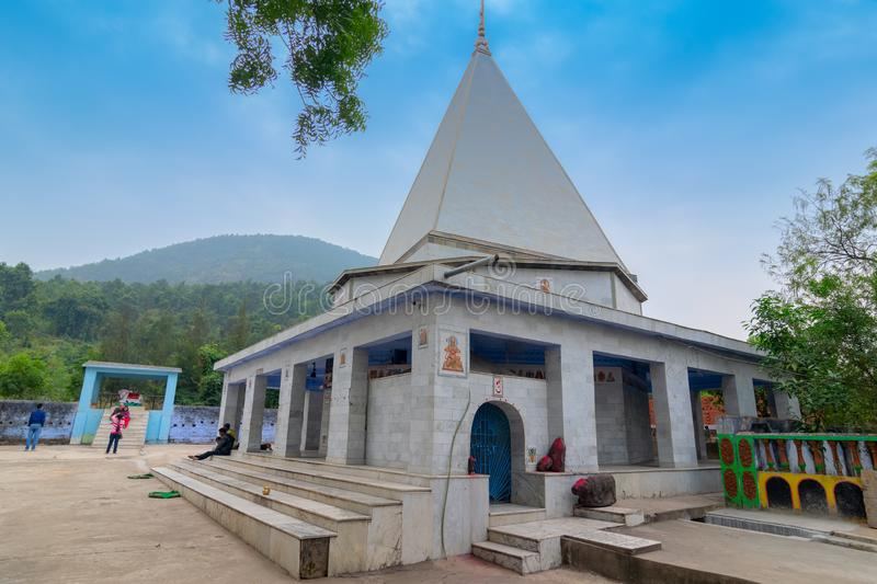 Biharinath temple at Bankura, West Bengal, India. BANKURA, WEST BENGAL , INDIA - DECEMBER 24TH 2015 : Biharinath temple is at the top of the Biharinath hill. A royalty free stock photo