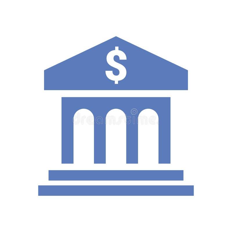 Bankvektorikone Flache Designvektorikone Vektorabbildung auf wei?em Hintergrund stock abbildung