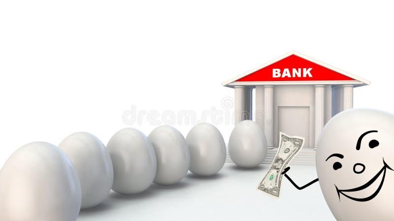 Bankverkehr und Investition stock abbildung